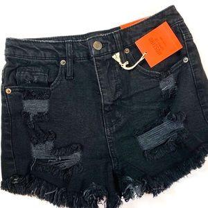 Mossimo high rise black shorts 0/25